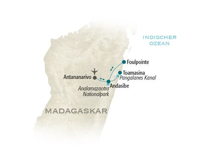Madagaskar Familienreise - Madagaskar for family - Karte 2019