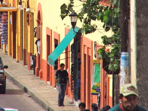 Familienreise Mexiko - Straße in Merida