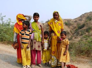 Familie In Indien