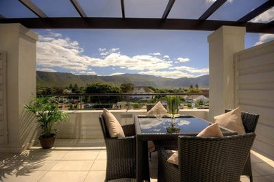 Garden Route Familienreise - Whale Coast All-Suite Hote Terasse