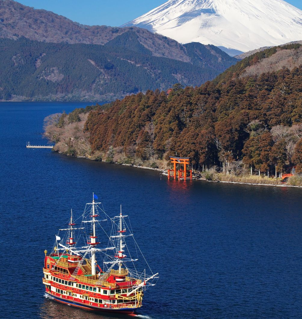 Japan mit Kindern - Japan for family - Ashinoko Lake Boot