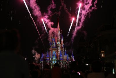 Florida Familienreise - Florida for family - Orlando Disney World - Feuerwerk am Schloss