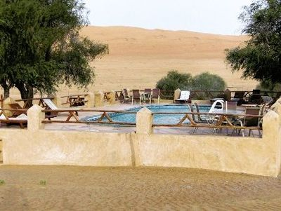 Familienurlaub Oman - Oman for family - 1000 Nights Camp Pool
